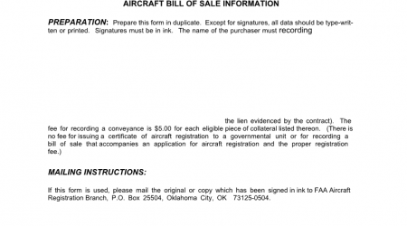 Alaska Aircraft Bill of Sale